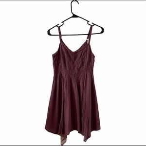 American Eagle Outfitters Purple Lace Dress